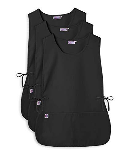 Sivvan Unisex Cobbler Apron - Adjustable Waist Ties, 2 Deep front pockets (3 Pack) - S87003 - Black - X - Mens Deep Pocket