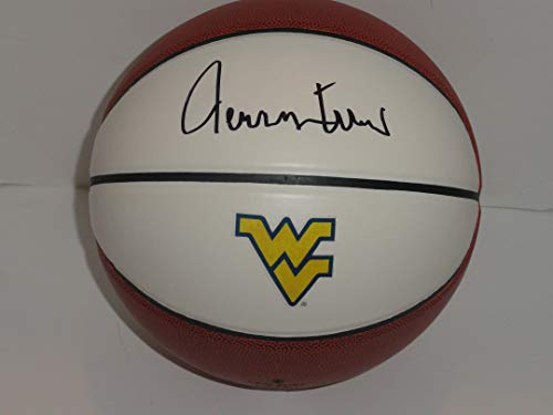 JERRY WEST SIGNED BASKETBALL WEST VIRGINIA MOUNTAINEERS HOF THE LOGO PROOF