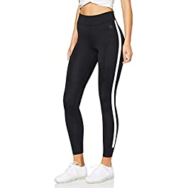 Amazon Brand – AURIQUE Women's Side Stripe Sports Leggings