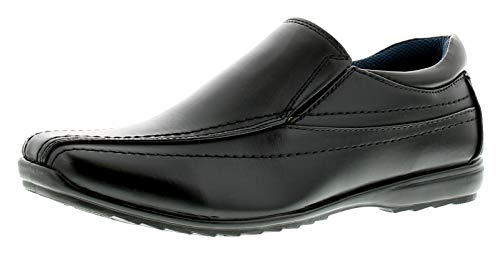 Formales 12 7 Us Zapatos Sizes Tachuela Negro Brass Hombre Negro GB para xwAUFwq