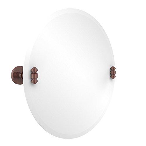 - Allied Brass SB-90-CA Frameless Round Tilt Mirror with Beveled Edge Antique Copper