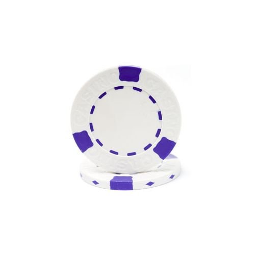 Trademark Poker Pro Clay Casino 100 Poker Chips, 13gm, White - Poker Poker Pro Clay