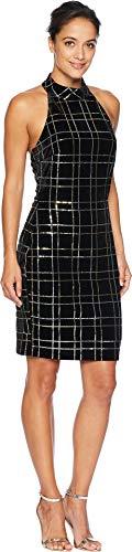 (Alexia Admor Women's Sleeveless Mock Neck Sheath Dress Black X-Large)