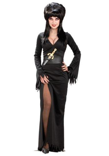 Elvira Mistress of the Dark Full-Length Dress, Black, Standard Costume ()