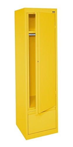 [Sandusky Lee HAWF171864-EY System Series Single Door Wardrobe with File Drawer, Yellow] (File Wardrobe Cabinets)