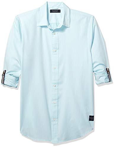 Scotch & Soda Men's Washed Shirt, Mint Mirage M (Best Scotch And Soda)