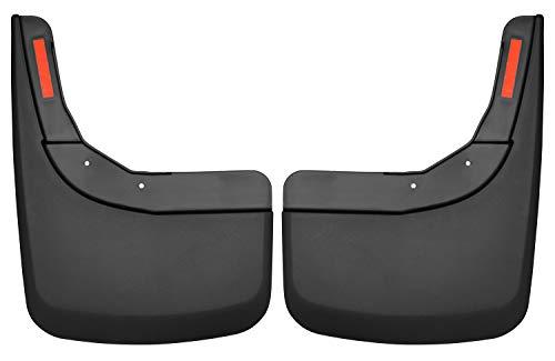 Husky Splash - Husky Liners 59261 Black Rear Custom Mud Guards Fits 2019 Chevrolet Silverado 1500