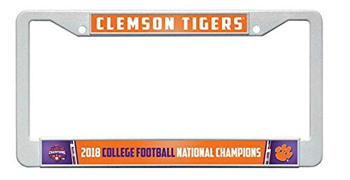 Rico Clemson Tigers 2019 Champions Plastic Frame License Plate Tag Cover University ()