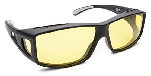 Fitover Night Driving Glasses (Charcoal, Yellow) by Mr.O (Image #2)