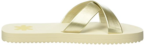 flip*flop Original Cross Metallic - Mules Mujer Dorado - Gold (Pale Gold 913)