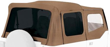 Rampage Jeep 99417 Spice Denim Tinted Window Jeep Replacement Soft Top