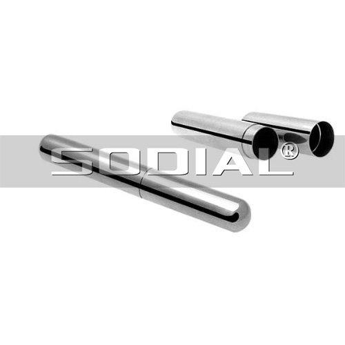 SODIAL(R) Nickel Silver Cigar Holder Case (16.5cm long) -