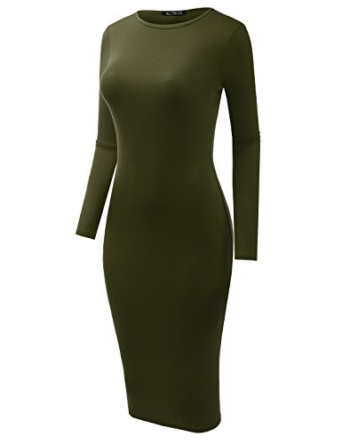 Fit Slim in olive Made F Sandwich Y USA Women's Dress Adrlr004 A TAxgHIqw8