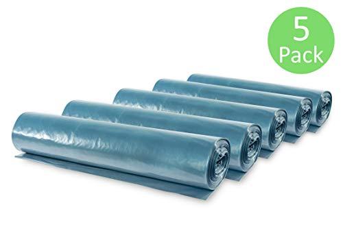 Müllsäcke, 15 St. extra starke blaue Müllbeutel, 120 Liter Fassungsvermögen, 700 x 1.100 mm, Typ 100 mit 70 my, besonders reißfest, ideal für Garten, Umzüge, Entrümpelungen & Haushalt, 5er Pack