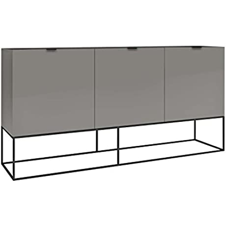 Casabianca Furniture Vizzione Collection Light Lacquer Buffet Gray
