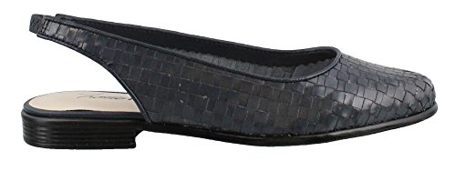 Women's Flat Trotters Navy Ballet Leather Lucy Y7dZnd