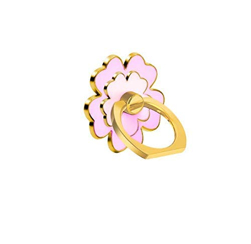 Cell Phone Flower Ring Holder,Flower Phone Ring Kickstand,Floral Cell Phone Finger Ring Grip for Almost All Phones//Pad Pink