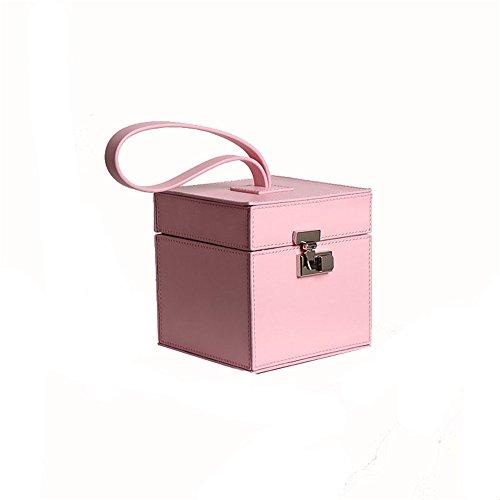 À Cuir Ladies Petit Jxth Carrée tout En Business Lady Beige couleur Fourre Sauvage Cadeaux Main Satchel Petite Rose Retro Sac Casual Boîte CPqd0xw7q