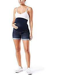 Women's Maternity Mid-Rise Shortie Shorts