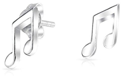 Teacher Music Notes Stud Earrings For Musician For Women For Teen Student 925 Sterling Silver