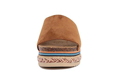 RI-BELLE - Sandalias de Piel para mujer marrón Nut