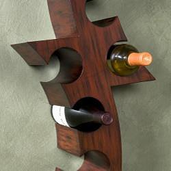 Upton Home Wall-mounted Curved Wine Storage Rack by Upton Home