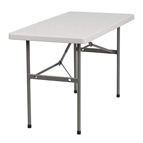 Flash Furniture 24''W x 48''L Granite White Plastic Folding Table [RB-2448-GG]