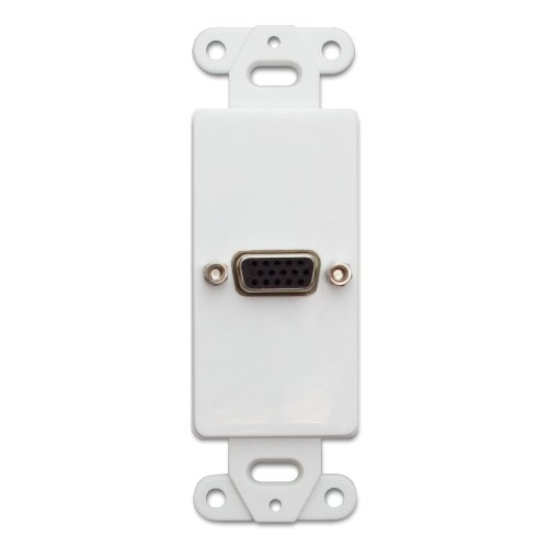 C&E CNE41374 Decora Wall Plate Insert, VGA Coupler, HD15 Female, (Vga Insert)