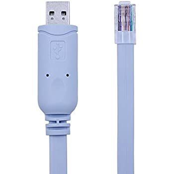 Usb Console Cable, USB to RJ45 console cable for Cisco Routers/ AP Router/  Switch/ Windows 7, 8 (1 8m, Blue)