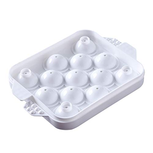 2019 Summer Reusable DIY Frozen Ice Cream Mold Home Stackable Ice Cube Mold (Color : Ivory)
