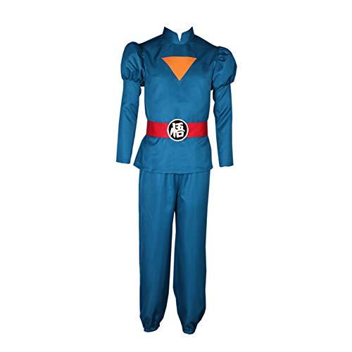 Super Dragon Ball Heroes Son Goku Kakarot Daishinkan Grand Priest Suit Anime Cosplay Costume (XXXL) Blue]()