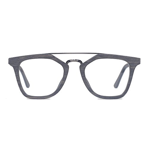 e555abd106 TIJN Men Women Classic Round Non-prescription Frosted Eyeglasses Frame  (grey