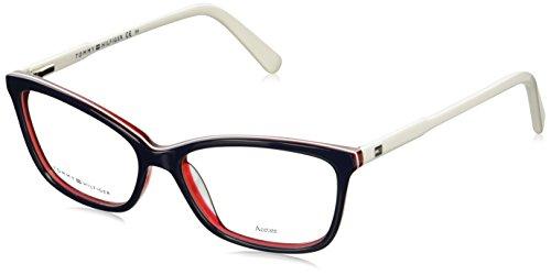Tommy Hilfiger Brille TH 1318 VN5 in der Farbe blau, rot weiß hintrlegt / weiß