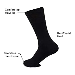 Sock Amazing Unisex Premium Bamboo Fiber Socks Super Soft Crew 8 Pack
