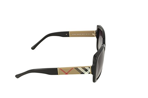 2201d909fc Burberry BE4160 34338G Black BE4160 Square Sunglasses Lens Category 3 Size  58mm