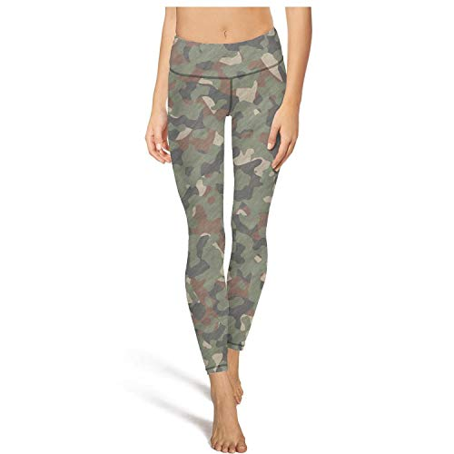 DFTH Army Camo Camouflage Military Leggins High Waisted Yoga Pants Workout Running Footless Leggings Stretch Breathable