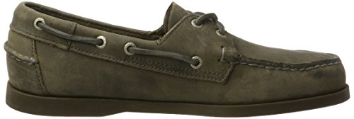 Sebago Docksides, Náuticos Para Hombre Gris (Grey Leather)