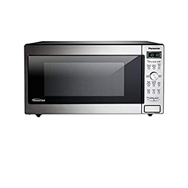 PANASONIC Compact Microwave Oven Built In / Countertop with Inverter Technology and 1250W of Cooking Power NN-SD745S 1.6 cu. Ft (Stainless Steel / Silver)