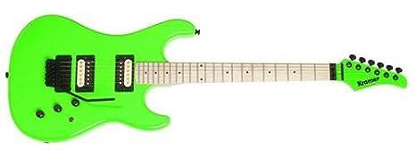 Kramer KPC-FGBF1 Pacer - Guitarra clásica, color verde fluorescente