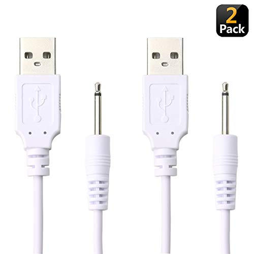USB Adapter Cord 2.5mm Charger Cable Replacement DC Charging Cord for Rechargeable Wand Massagers ()