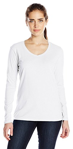 Champion Authentic Women's Jersey Long Sleeve T-Shirt_White_M