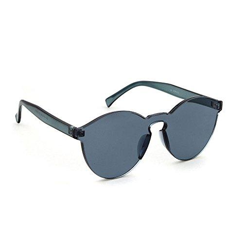 de occasionnels Bonbons lunettes de transparents pas de les tous verres pour Gris unisexe cadre lunettes soleil rétro couleur soleil rondes jours 1wWH1rqxng