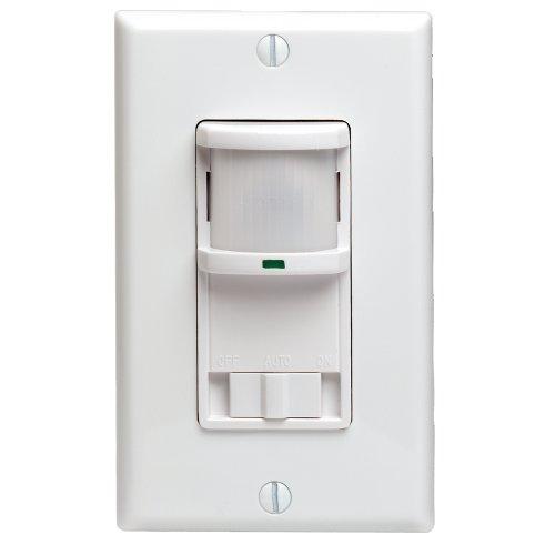 leviton pr180 1lw decora 500w incandescent, 400va, passive infraredleviton pr180 1lw decora 500w incandescent, 400va, passive infrared wall switch occupancy sensor, single pole and 3 way, white (b0007n737s) amazon price