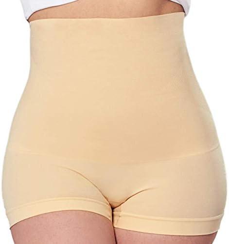EMPETUA High Waisted Body Shaper Boyshorts Tummy Control Waist Slimming and Back Smoothing Shapewear for Women Plus Size