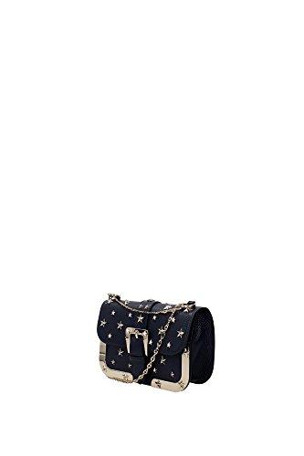 Borse a Spalla Valentino Red Donna Pelle Blu e Oro LQ0B0675DSR299 Blu 4.5x14x20 cm