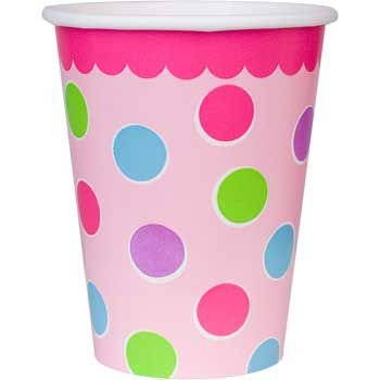 Amscan Sweet Little Cupcake Girl Cups - 18 ct (Little Sweet Amscan Cupcake)