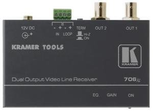 Receiver Over Pair Video Twisted (KRAMER 706XL Kramer Electronics 706XL Composite Over Twisted Pair Receiver (7 Kramer 706XL Composite Video Over Twisted Pair Branching Receiver)