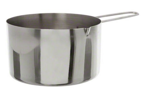 American Metalcraft MCW200 2-Cup Stainless Steel Measuring Cup with Wire Loop Handle, Silver (Best Dry Measuring Cups)