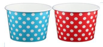red and white ice cream cups - 4