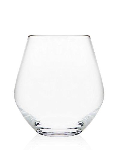 Godinger Silver Art Non-leaded Crystal 18 Oz. Stemless Wine Glasses, Set of 4 (Stemless Wine Crystal Glasses)